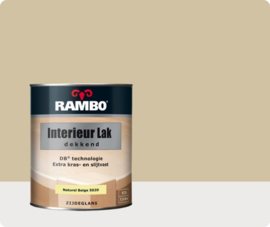 RAMBO INTERIEUR - VLOER LAK DEKKEND ZIJDEGLANS - Naturelbeige 5020 - 0,75 liter