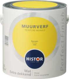 Histor Perfect Finish Muurverf Mat - banaan6980 - 2,5 Liter