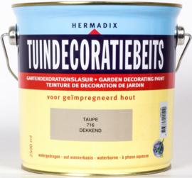 Hermadix Tuindecoratiebeits 716 Taupe - 0.75 liter