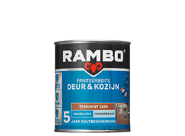 Rambo Pantserbeits Deur & Kozijn Transparant Hoogglans - Donker Eiken 1203 - 750 ml