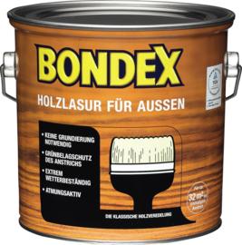 BONDEX Transparante beits voor buiten - zeer duurzaam 2,5 liter - Ebbenholz