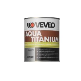 375 liter Veveo Aqua Titanium RAL 9010 zijdeglans