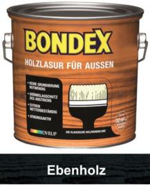 BONDEX Transparante beits voor buiten - zeer duurzaam 0,75 liter - Ebben - Ebbenholz