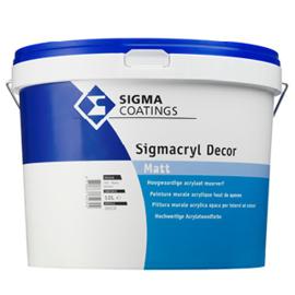 SIGMACRYL Decor MAT - SIGMA muurverf RAL 9010 - 10 liter - SCHROBVAST