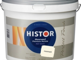 Histor Structuur muurverf - wit - 10 liter