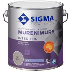 Sigma Muurverf Mat Reinigbaar - RAL 9010 - 2,5 liter