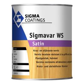 Sigmavar WS SATIN- Kras- en slijtvaste lak - Blank kleurloos -  1 liter
