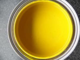 KNAL GEEL - Zijdeglans 1 liter - HISTOR Acryl - kras en slijtvast