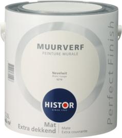 Histor Perfect Finish Muurverf Mat - Nevelwit 6216 - 2,5 Liter