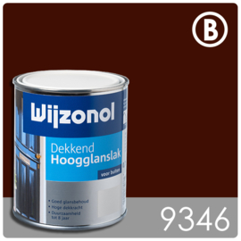 Wijzonol Dekkend Hoogglanslak 9346 Bordeauxrood - 5 maal 750 ml
