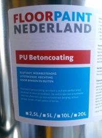PU betoncoating - RAL 9001 - 5 liter BINNEN en BUITEN