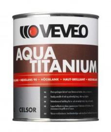 Veveo Aqua Titanium Hoogglans - Zwart RAL 9005 - 2,5 liter