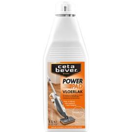 CetaBever vloerlak PowerPad zijdeglans kleurloos incl  GRATIS spons -1 liter