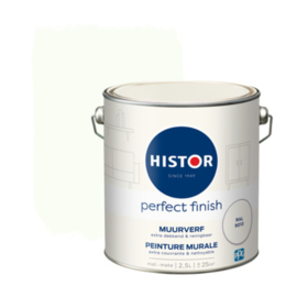 Histor Perfect Finish Muurverf Mat - RAL 9010 - 2,5 liter