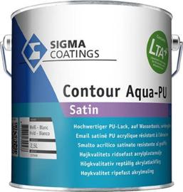 SIGMA Contour Aqua PU Satin - WIT  = vergelijkbaar met S2U NOVA Satin wit -  2,5 liter