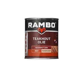 RAMBO TEAKHOUT OLIE TRANSPARANT - Teakhout 1204 - 0,75 liter