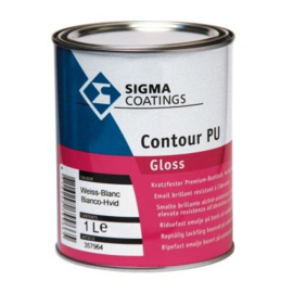 Sigma Contour PU Gloss - Wit - 1 liter - vergelijkbaar Sigma s2U Gloss