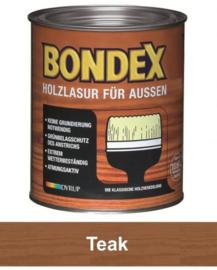 BONDEX Transparante beits voor buiten - zeer duurzaam 2,5 liter - Teak