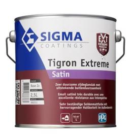 Sigma Tigron Extreme Satin - Kras en slijtvast - WIT - 1 liter - is vergelijkbaar met Sigma S2U Satin