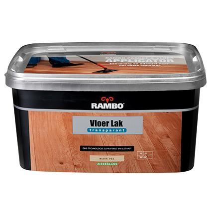 RAMBO Vloerlak Transparant Acryl Zijdeglans - 4 liter
