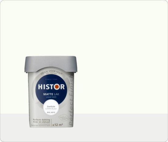 Histor Perfect Finish Mat  Zonlicht Ral 9010 - 3 maal 0.75 liter
