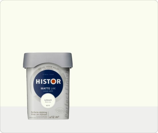 Histor Perfect Finish Mat  Leliewit 6213 - 3 maal 0,75 liter