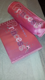 I Want to Be A Princess Pink Satin gift Notebook