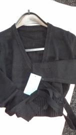 Classic Knit Wrap Sweater Capezio CS301c Blk