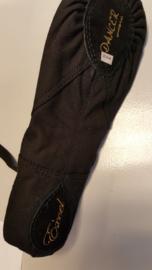 Excel Ballet Shoe Black Normal Wide Canvas Split