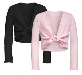 Tie-up knoop vestje roze
