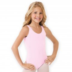RONDO Leotard pink Basic in cotton spandex