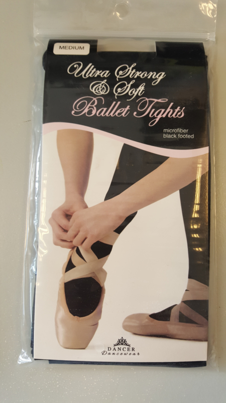 Ultra Strong & Soft Ballet tights microfiber black footed