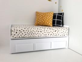 Slaapkamer | Textiel | beddengoed | 1 persoons matras | wit met dots