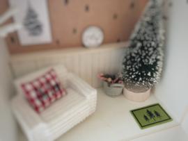 Feestdagen | Kerst | deurmat | groen |  3 trees