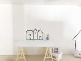 Kinderkamer | mini stickers | opgebird | huisjes
