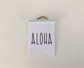 Wanddecoratie | Poster Flag  | mint | Aloha