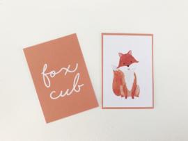 Wanddecoratie | Posters | Darling Prints | Fox cub | 2 prints