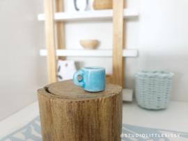 Keuken | keramiek kopje | blauw | per stuk