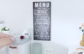Keuken | krijtbord | Menu