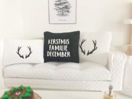 Feestdagen | Kerst | Kussen 4 x 5 cm | Tekst