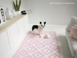 Vloeren & wanden | Vloerkleed rechthoek | roze & wit