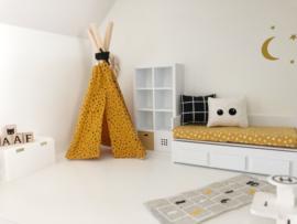 Mini-Tipi 18cm | oker geel met dots