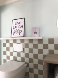 Bathroom | Poster | Live Laugh Poop.