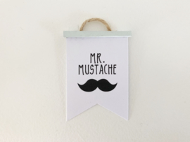 Wanddecoratie | Poster Flag  | mint | Mr. Mustache