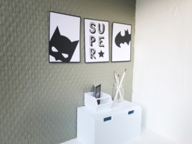 Wanddecoratie | Posters | Darling Prints | Batmen | 3 prints