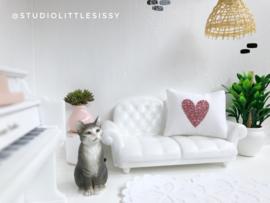 Textiel | slaapkamer | Kussentje  | 4 x 5 cm | rosé gold glitter hart