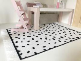 Vloeren | dots | zwart-wit | M