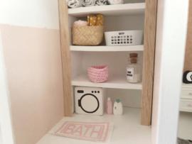 Mini Tipi | Gehaakt | rechthoekig mandje | roze