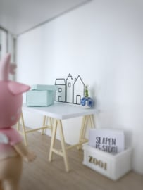Werkkamer | opbergbox | licht blauw