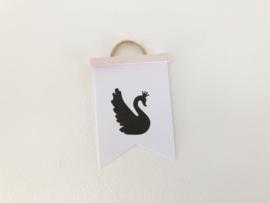 Wanddecoratie | Poster Flag  | Roze | Swan